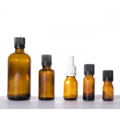 Flacon ambré DIN 18 (2,5, 5, 10, 15, 30 et 50 ml) avec codigouttes Huile essentielle