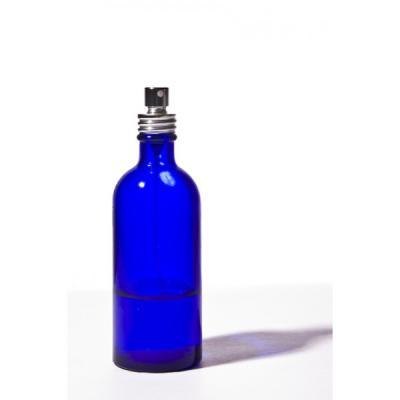 Flacon verre bleu 100 ml avec spray