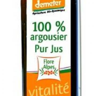 Argousier, jus 250 ml, Flore Alpes