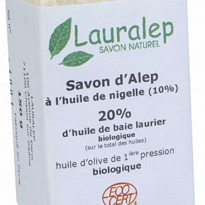 Savon Alep à l'huile de nigelle 150g