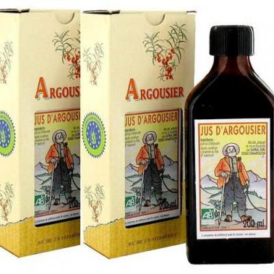 Argousier, Cure tonifiante, 3 jus d'argousier, 200 ml x 3