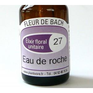 Unitaire n° 27 : Eau de roche (Rock water), 10 ml, Hautes-Alpes, BIO