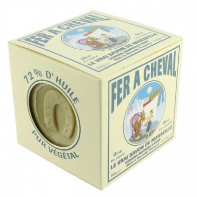 Savon de Marseille à l'huile d'olive, cube de 100g, emballage carton