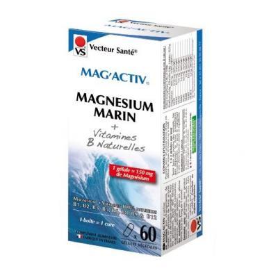Mag'activ, Magnésium marin + vitamines B, Gelules