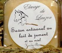 Savon lait de jument et miel, 100 g, Hautes-Alpes