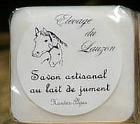 Savon lait de jument nature 100g, Hautes-Alpes